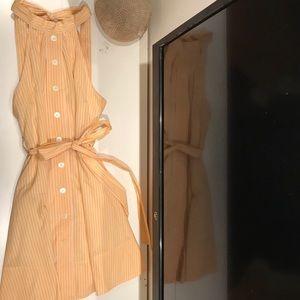 Marc by Marc Jacobs yellow stripe midi dress